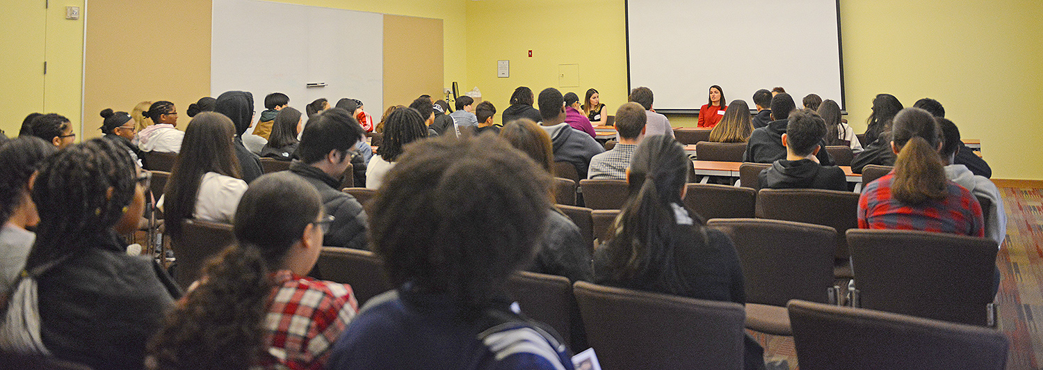 On March 31, Wesleyan's Office of Equity and Inclusion hosted a Pathways to Inclusive Equity Conference of Visibility at Usdan University Center. Discussions focused on visibility and belonging in academic and professional environments.
