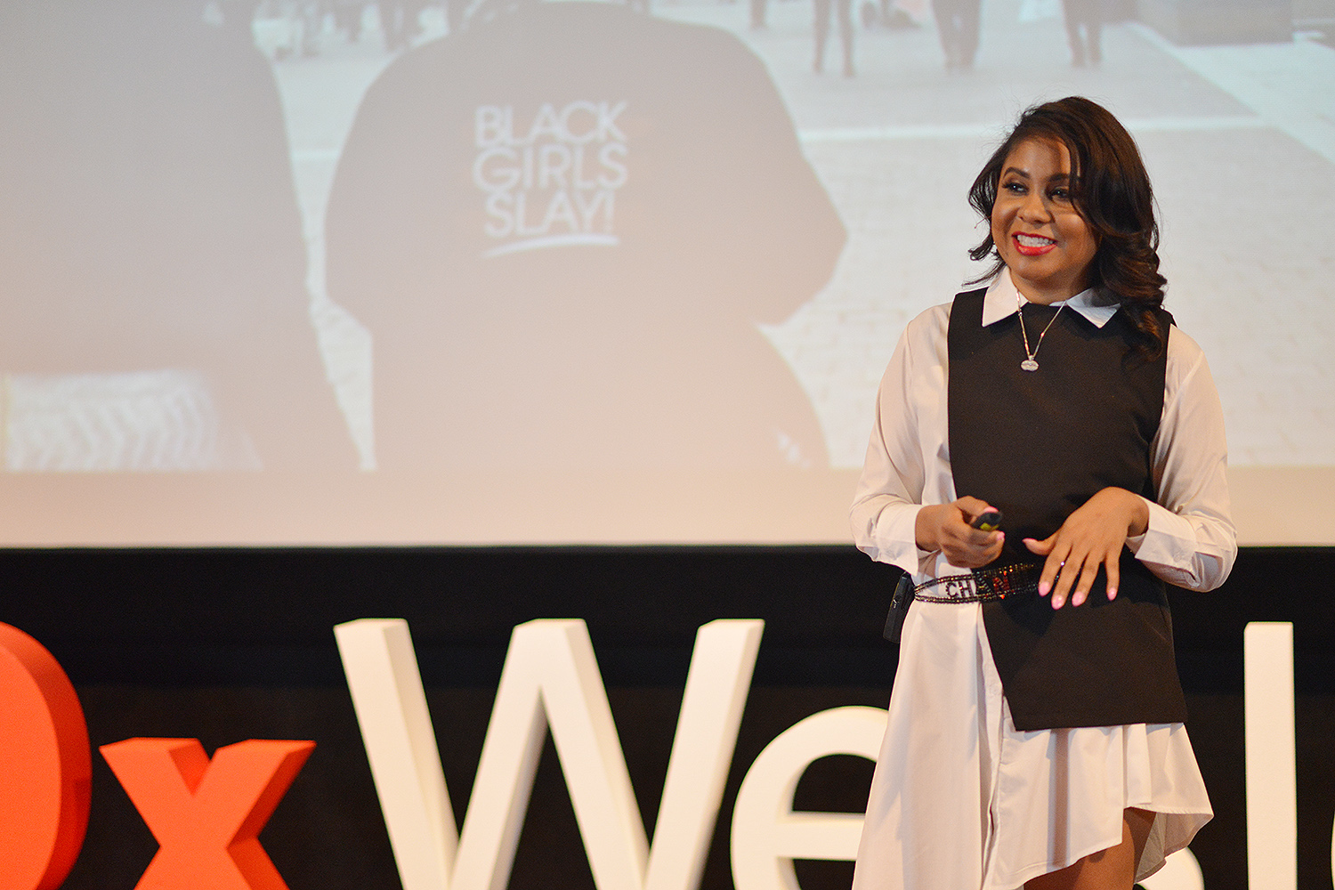 "Angela Yee '97, host of ""The Breakfast Club,"" spoke on ""Hate Hurts."""
