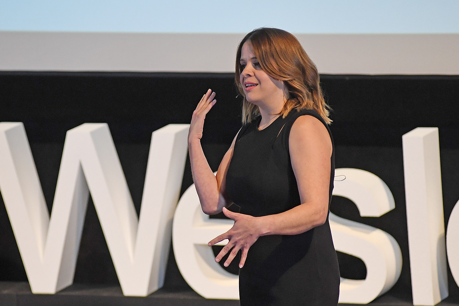 "Maria Santana '98, anchor/correspondent with CNN en Espanol, spoke on ""Reporting in the Era of 'Fake News'."""