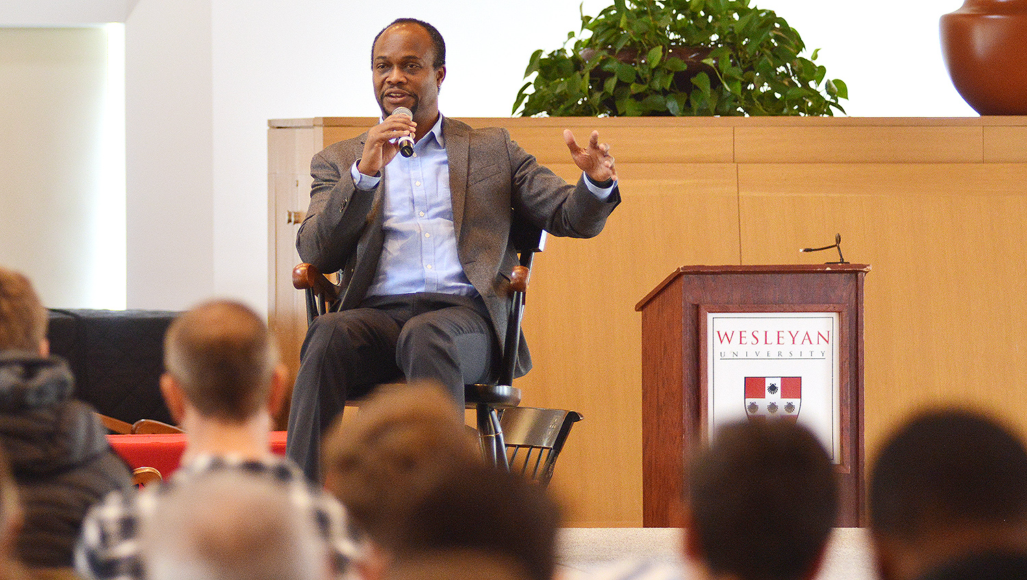 English major Rob King '84, senior vice president of original content newsgathering and digital Media at ESPN, delivered the alumni keynote speech during WesFest on April 11. King oversees ESPN's entire portfolio of newsgathering and storytelling assets across television, digital and print. He also oversees the Stats and Information Group and leads ESPN's Editorial Board that sets the tone and direction of ESPN's overall content coverage and standards.