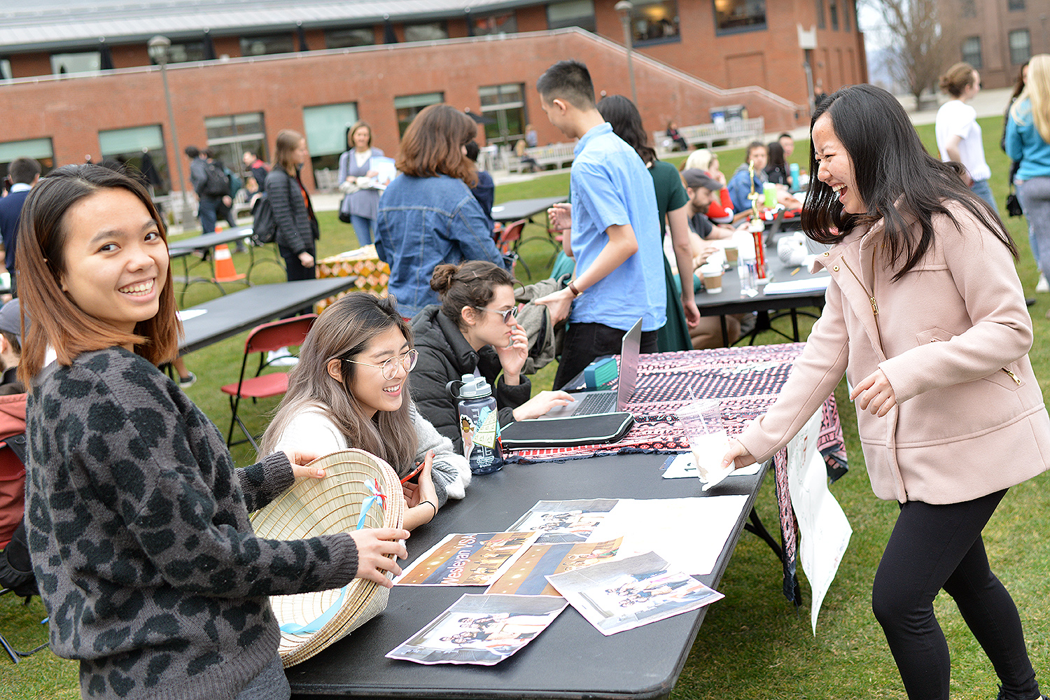 On April 13, Wesleyan students hosted a Student Activities Fair to introduce Class of 2022 admits to the many clubs and activities available on campus.