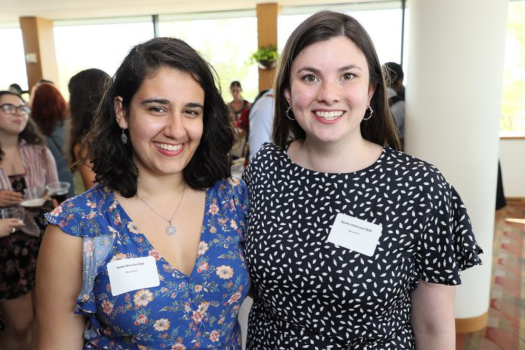 Sonya Bessalel '18 won the Mann Prize; Martha Mastrianni '18 won the Mann Prize