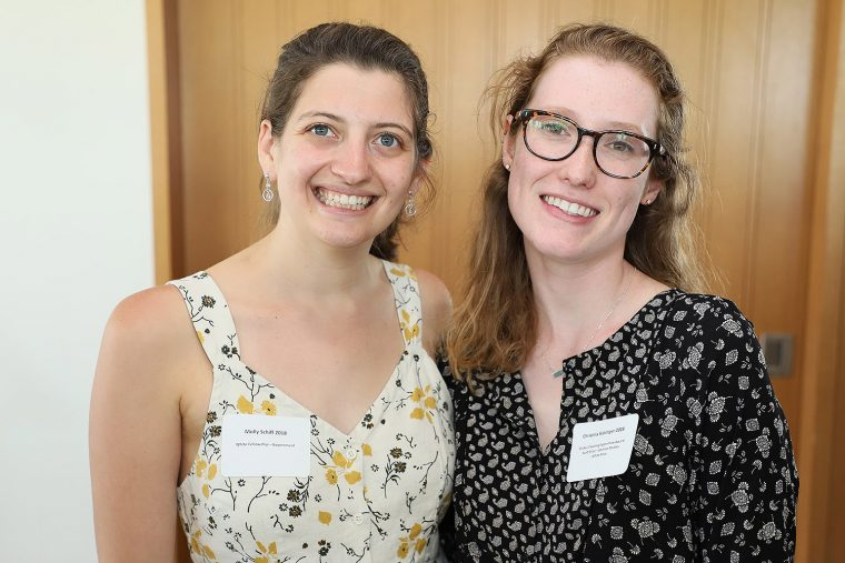 Molly Schiff '18 won the White Fellowship Prize in Government; Christina Sickinger '18 won the Scott Prize in German Studies, White Prize, and Plukas Teaching Apprentice Award