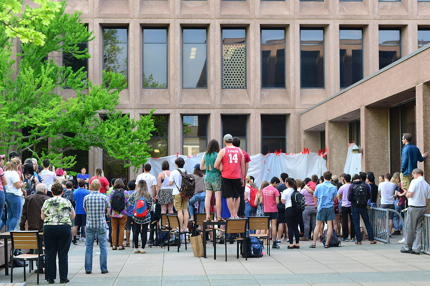 On May 9, crowds gathered outside Exley Science Center for the third annual Big Drop.