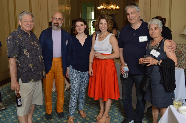 The reception was held at Russell House, and was co-sponsored by Wesleyan's Writing Certificate.