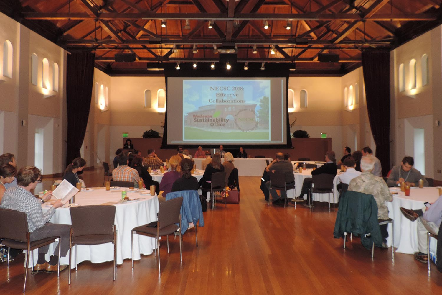 Three Wesleyan employees participated in the Northeast Campus Sustainability Consortium's Annual Meeting June 4-5. The meeting focused on effective collaborations within campus, between campuses, and between campus and community.