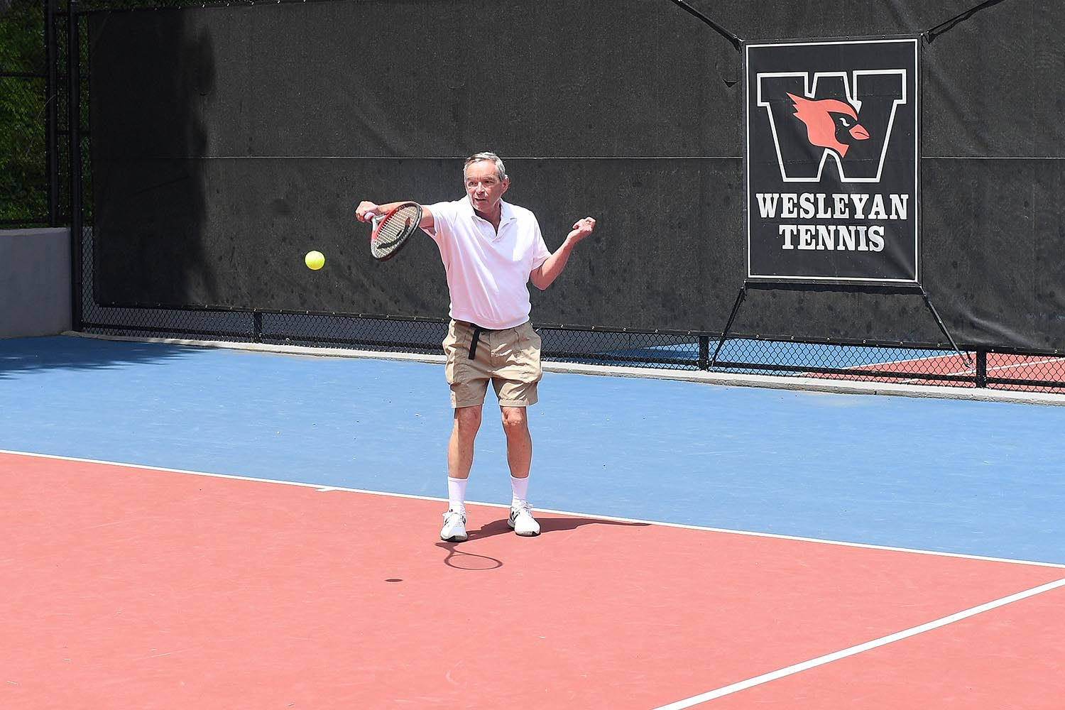 As a result of the extensive renovation, 16 new, state-of-the-art courts were created. In addition to the renovated courts, the improvements also included team benches, new windscreens, enhanced bleachers, new fencing, and cameras with the ability to live stream matches.