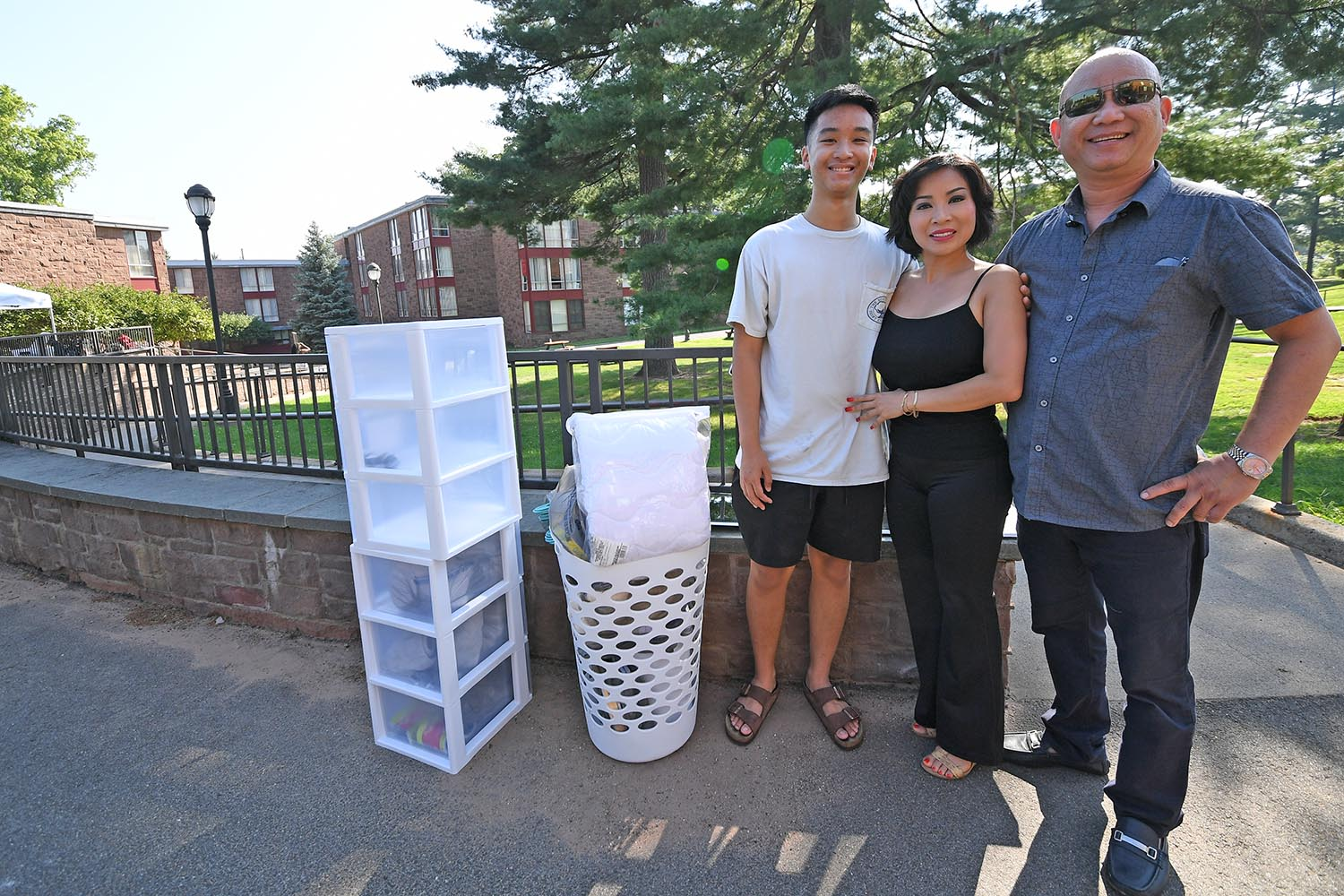 "Paul Tran '22, with parents Hoa Hoang and Thai Tran, from Houston, Texas, chose Wesleyan for its open curriculum. He's considering a major in English and government, with the goal of becoming a civil lawyer. Asked if he minded that his son was so far away from Texas, father Thai Tran was both cheerful philosophical: ""This, he chose. We have to follow."""