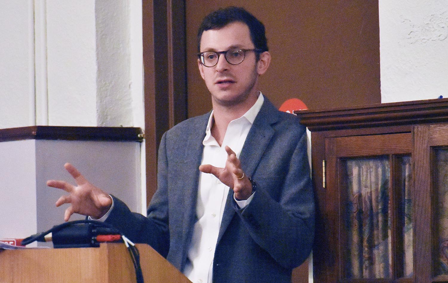 "Peck, whose research explores the tensions that exist between the modern presidency and the rule of law, spoke on ""Progress, Preservation, and the Constitution After Trump."" His talk focused on the ways in which the Constitution aids and constrains reform movements in American politics."