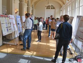Wesleyan faculty, students, alumni and guests participated in the 19th annual Molecular Biophysics Retreat Sept. 27 at Wadsworth Mansion.