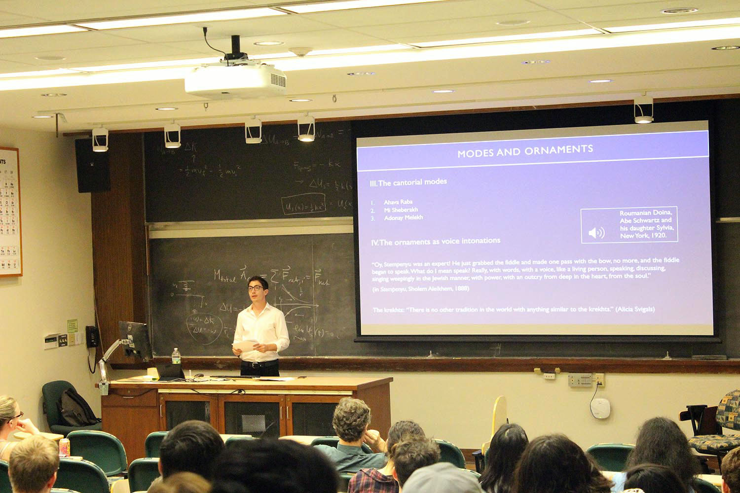 On Oct 10, Douglas Kiman, a second year PhD student in ethnomusicology, presented a Graduate Speaker Series talk titled