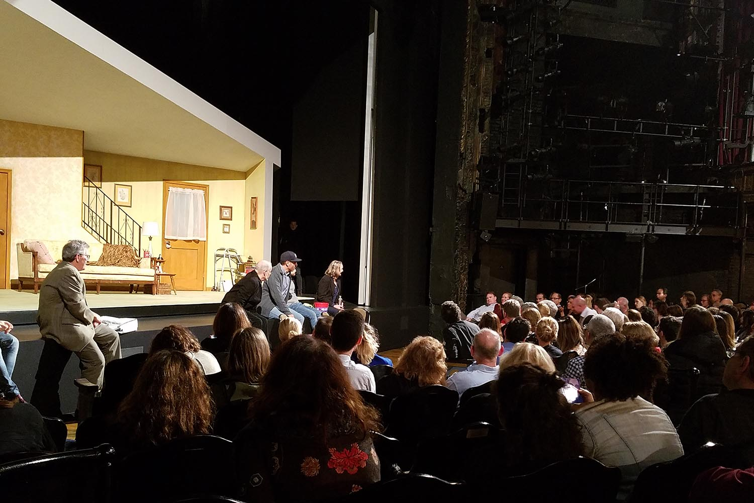 "On Nov. 1, more than 200 Wesleyan alumni, parents and guests attended ""Wesleyan on Broadway: The Lifespan of a Fact"" at Studio 54 in New York City. The event included a performance of The Lifespan of a Fact, produced by Tony Award-winner Jeffrey Richards '69."