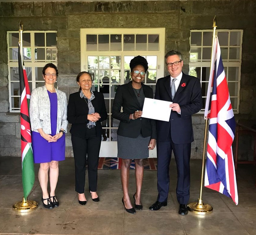 Claudia Kahindi '18, second from right, was awarded the 2019 Rhodes Scholarship for Kenya.