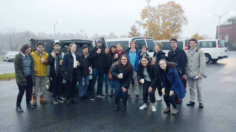 Students in Assistant Professor of Government Logan Dancey's Campaigns and Elections course conducted exit polling around Connecticut's Fifth Congressional District on Election Day.