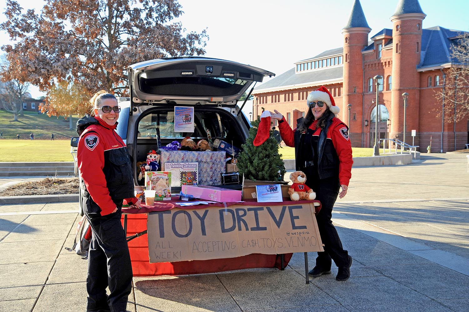 Public Safety, Greek Life Stuff a Cruiser to Benefit Local