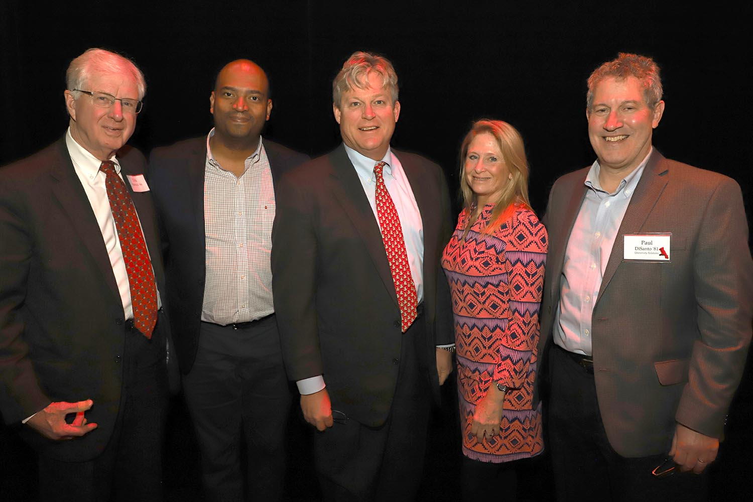 From left, Richard Stabnick '66, Vice President for University Relations Frantz Williams, Ted Kennedy, Jr. '83, P '16 '20, Trustee Kiki Kennedy P '16 '20, Director of Leadership Giving Paul DiSanto.