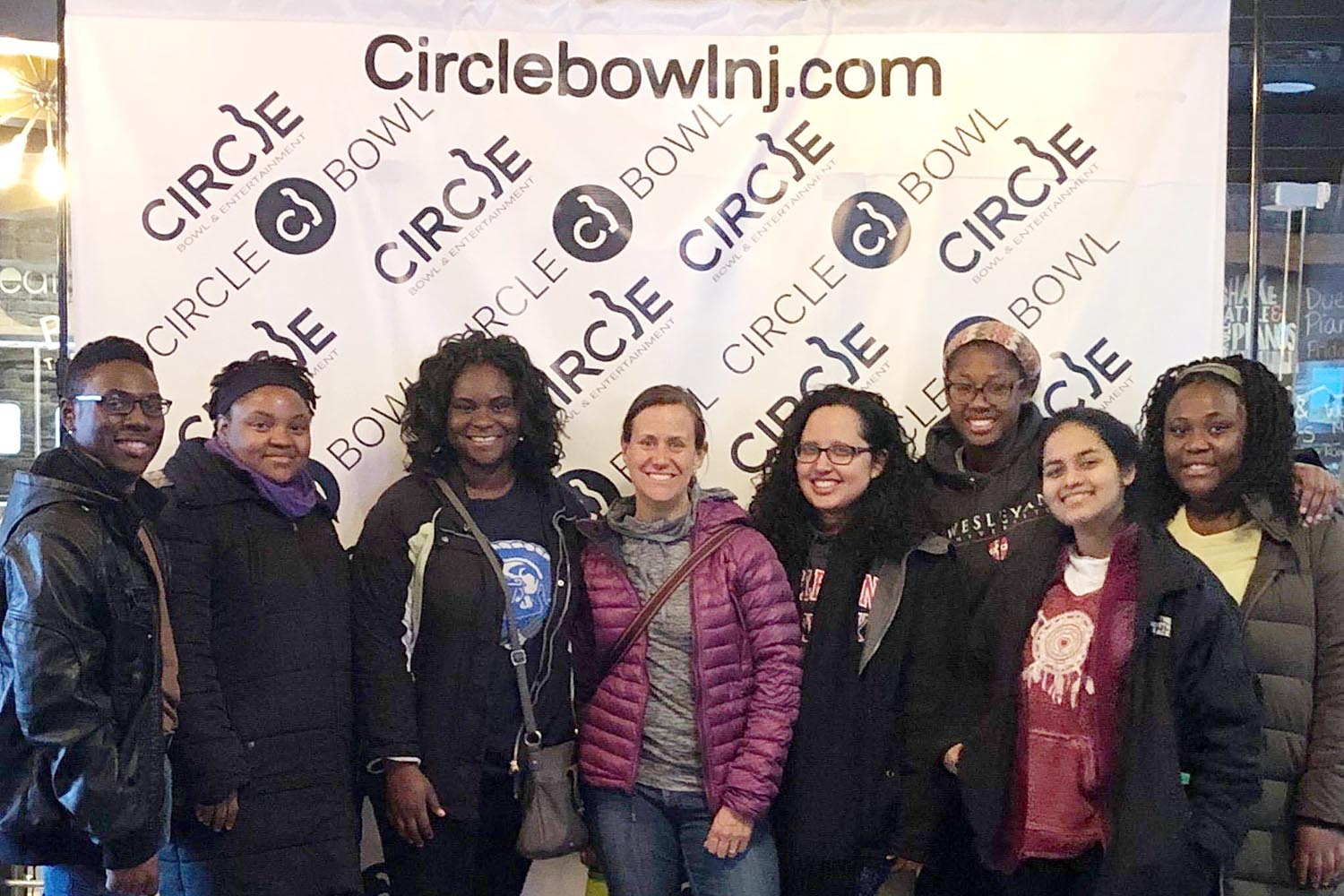 The group played a few rounds of bowling at Circle Bowl in Ledgewood, N.J.