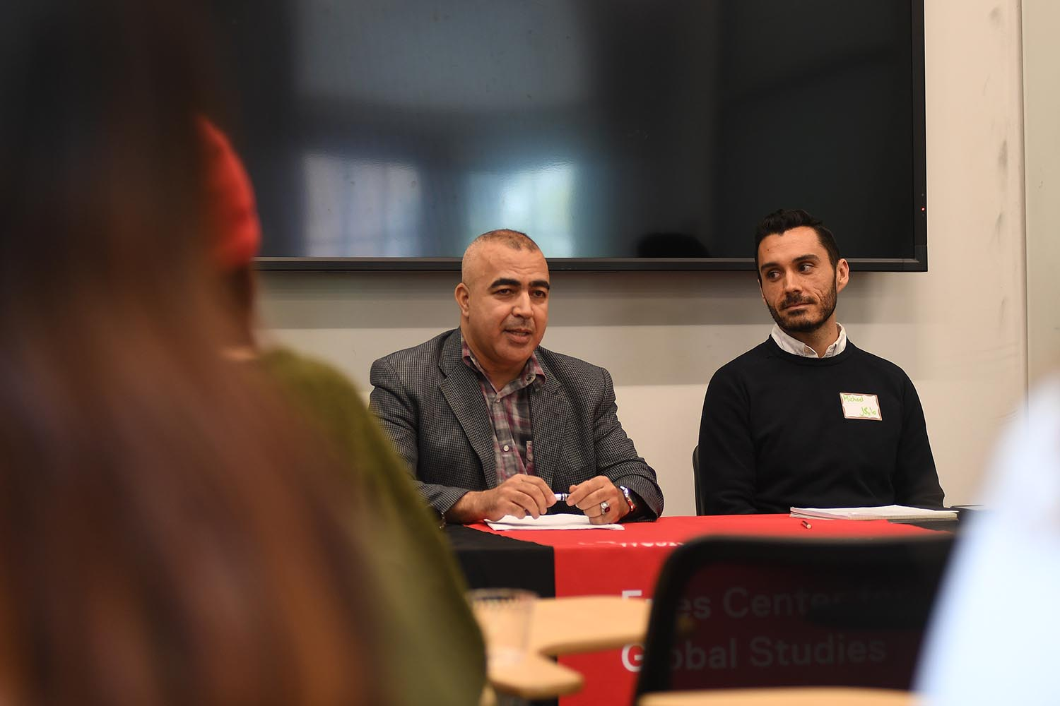 Professor Aissa (Arabic) and Michael Acosta (Study Abroad Advisor)