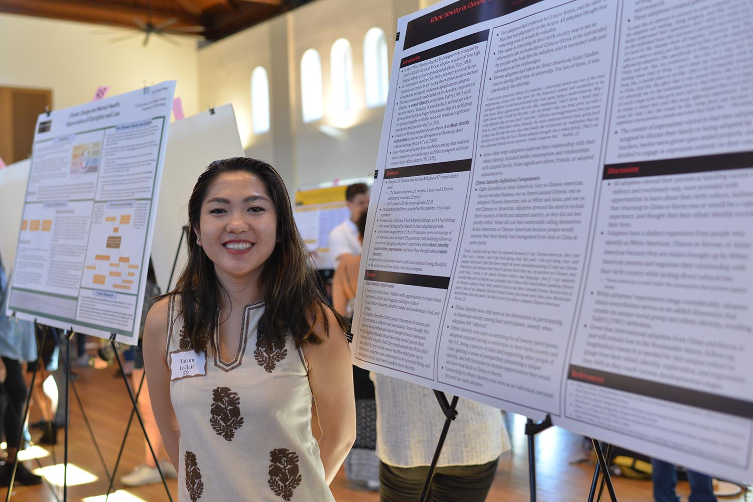 Ethnic Identity in Chinese and Korean Adoptees: Exploration, Components, Expression Presenter/s: Tatum Leclair Advisor/s: Robert Steele