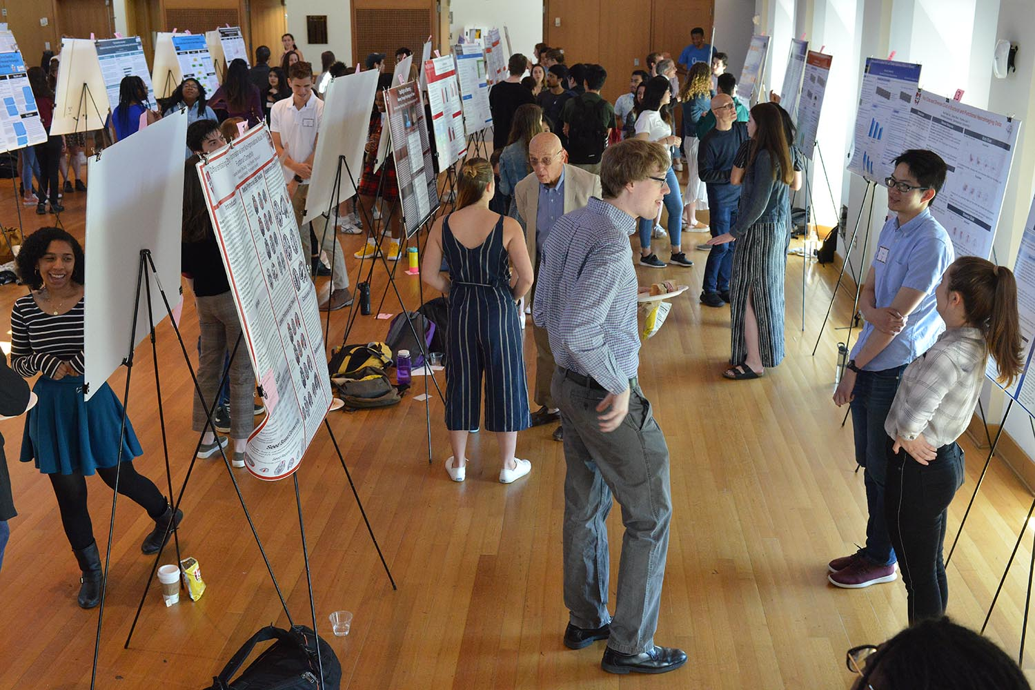 More than 120 students presented 65 posters during the Department of Psychology's Research Poster Presentation April 25 in Beckham Hall.