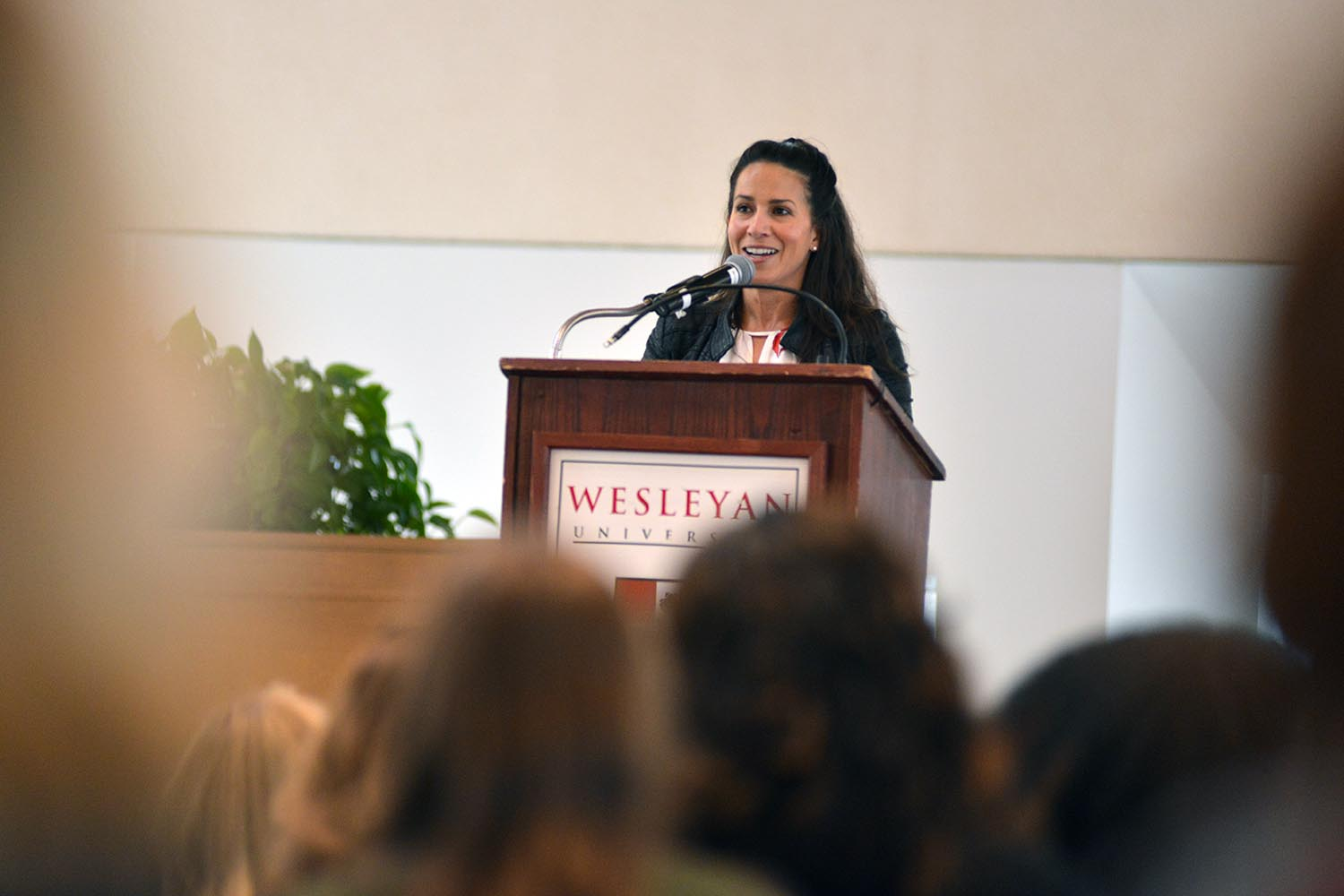 Wesleyan alumnae and New York Mets public address announcer Marysol Castro '96 delivered the WesFest Alumni Keynote Address on April 11.Castro, the first Latina public address announcer in the entire MLB, also the host of The Weekly Good on OGTV and the wildly popular CTBites Hot Dish podcast. In 2010, Castro anchored weather at CBS's The Early Show. She spent two years at ESPN as a host and sideline reporter for the Little League World Series, Invictus Games,and Premier Boxing Champions.