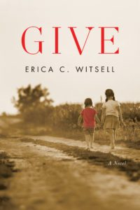 the cover of the book, Give, shows two young girls walking along a dirt road.
