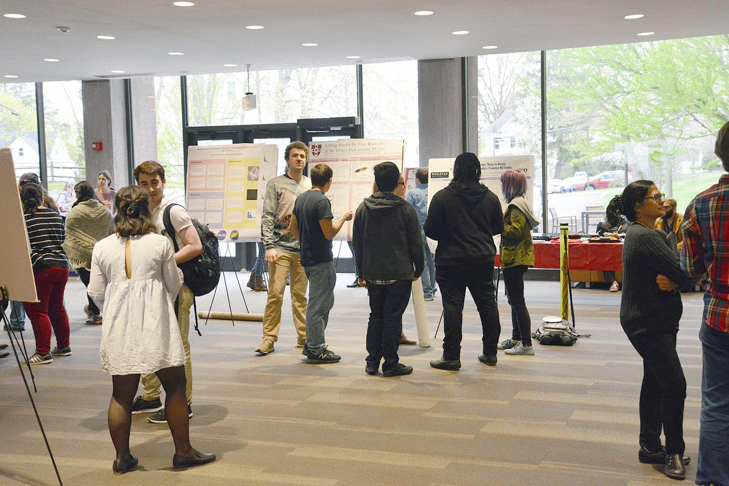 On April 26, honors and graduate students in the Natural Sciences and Mathematics Division presented posters at the Celebration of Science Theses.