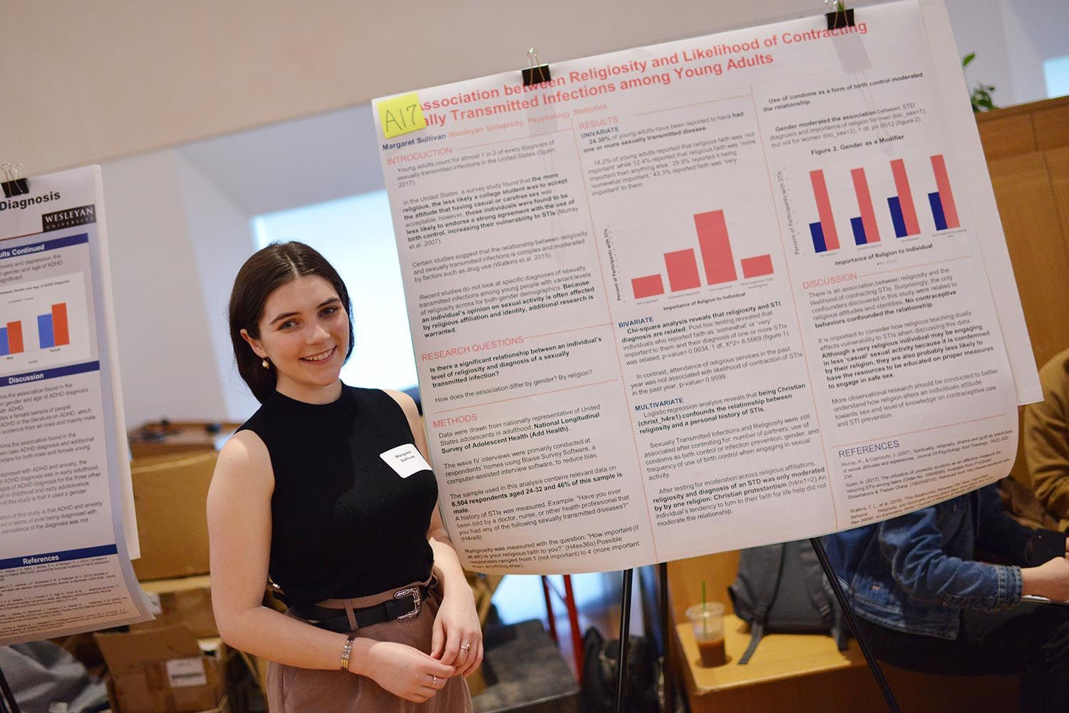 "Margaret Sullivan '22 explored the topic of ""The Association between Religiosity and Likelihood of Contracting Sexually Transmitted Infections among Young Adults."""