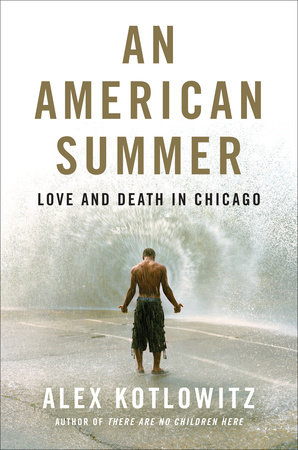 the cover for An American Summer: A boy stands with his back to us with his shirt off.