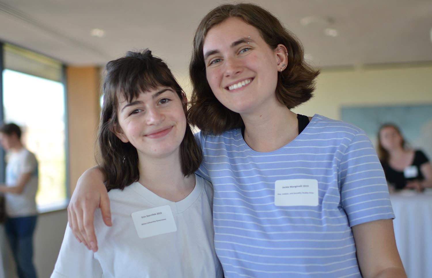 Erin Sternlieb '19 received the White Fellowship for Government. Jackie Manginelli '19 received the Gay, Lesbian, and Sexuality Studies Prize.Erin Sternlieb '19 received the White Fellowship for Government. Jackie Manginelli '19 received the Gay, Lesbian, and Sexuality Studies Prize.