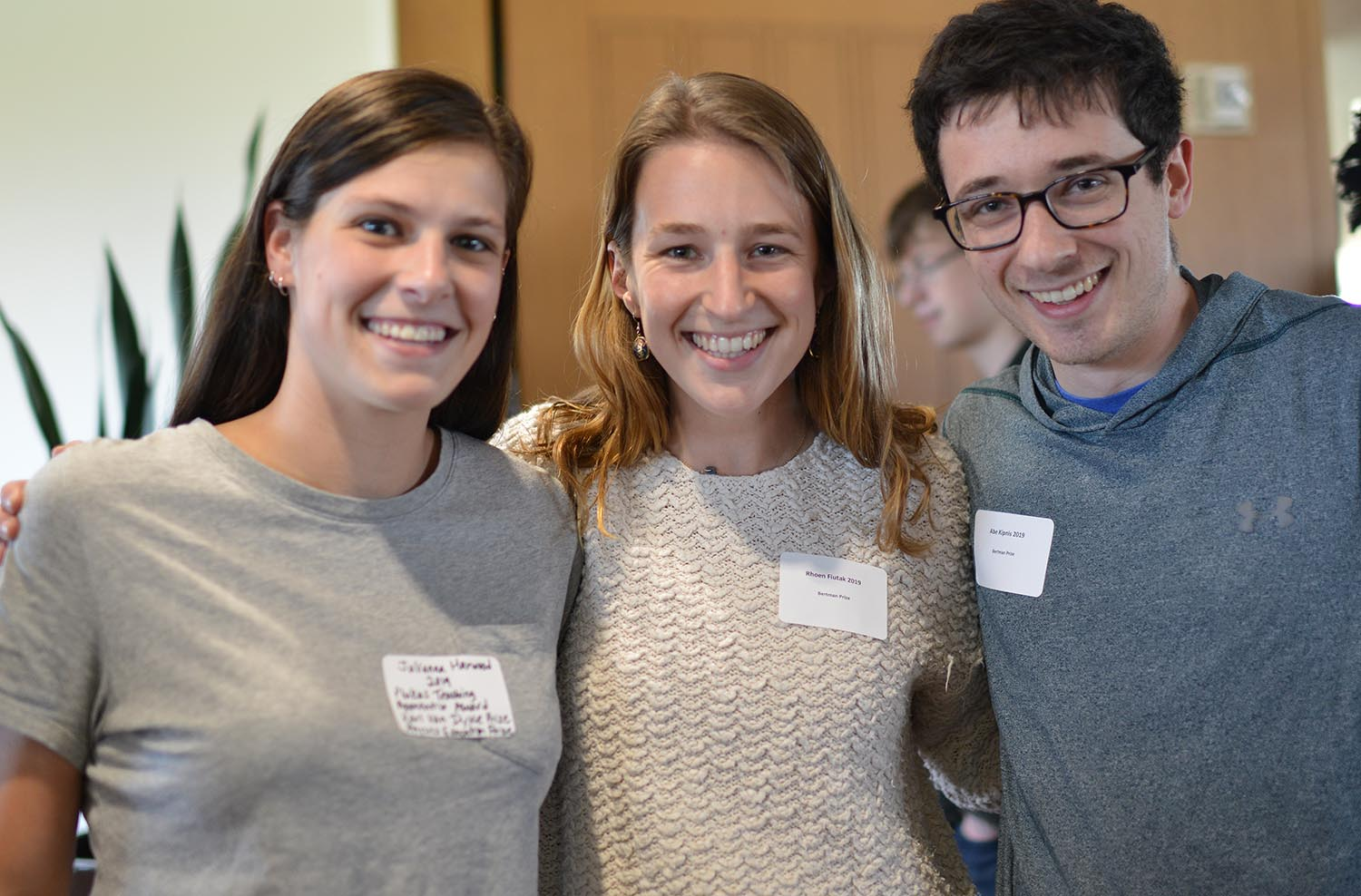 Julianna Harwood '19 received the Plukas Teaching Apprentice Award and the Karl Van Dyke Prize for outstanding achievement in physical science. Rhoen Fiutak '19 and Abe Kipnis '19 won the Bertman Prize for physics.