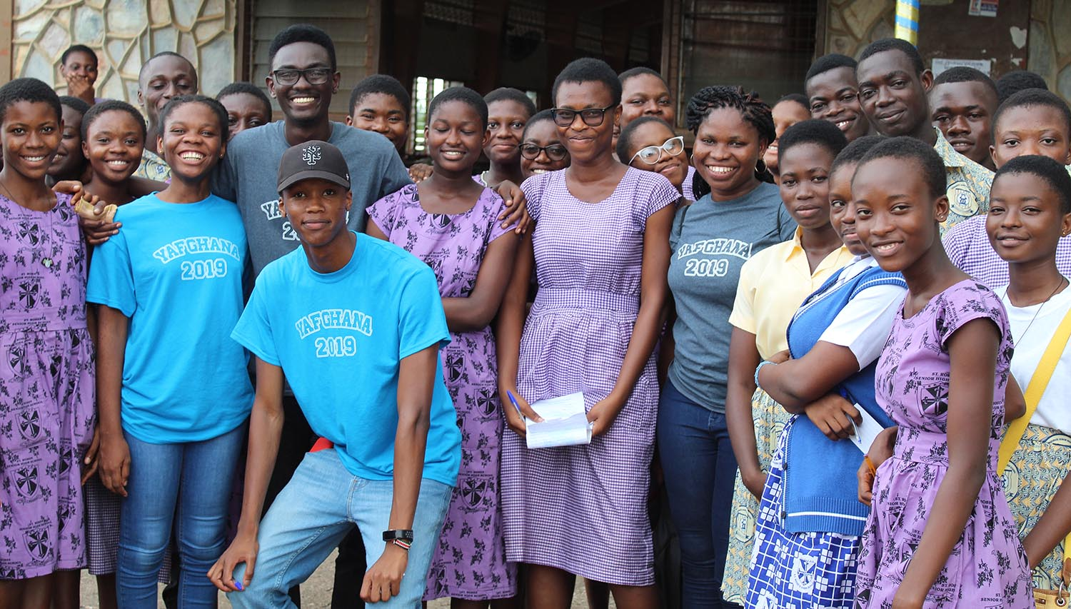 The Young Achievers Foundation (YAF) Ghana, spearheaded by Ferdinand Quayson '20 (pictured in the black shirt), is a recipient of a 2019 Davis Projects for Peace Award. YAF Ghana exposes disadvantaged students in Northern Ghana to available scholarship opportunities and provides them with free resources needed to be successful applicants.