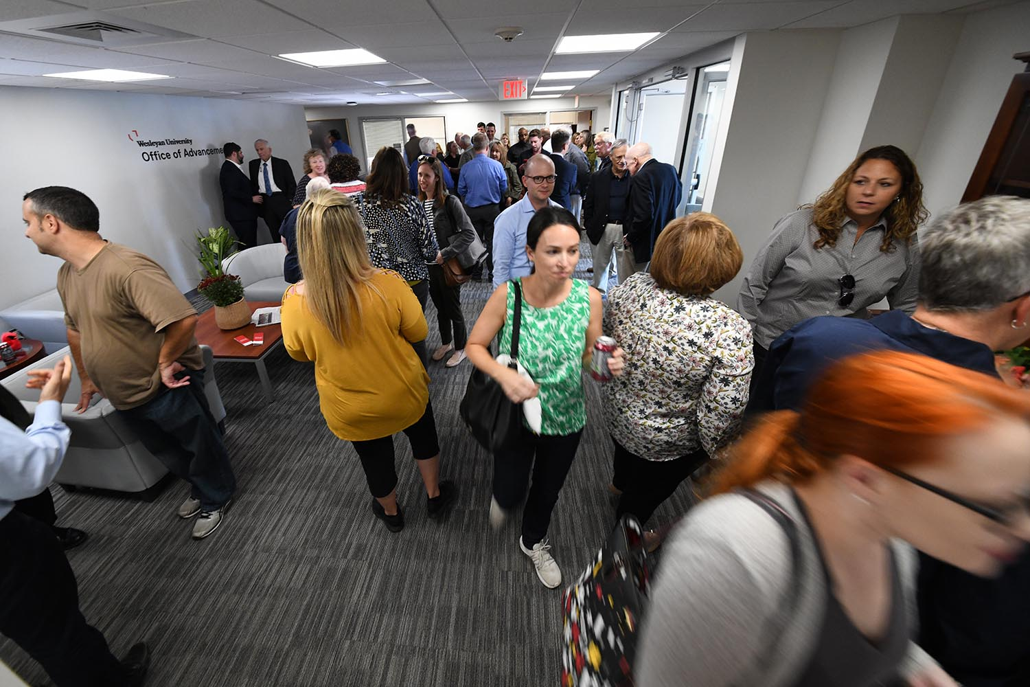 Open-house goers were treated to snacks and refreshments.