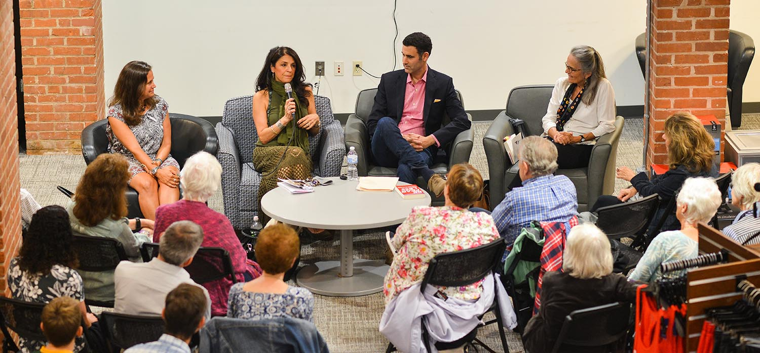Mehr-Muska, at left, joined three other authors at the program including Lisa Blackman, author of The MetaPhysician Within; Jonathan Alpert, author of Be Fearless: Change Your Life in 28 Days; and Adelia Moore, author of Being the Grownup: Love, Limits and the Natural Authority of Parenthood.