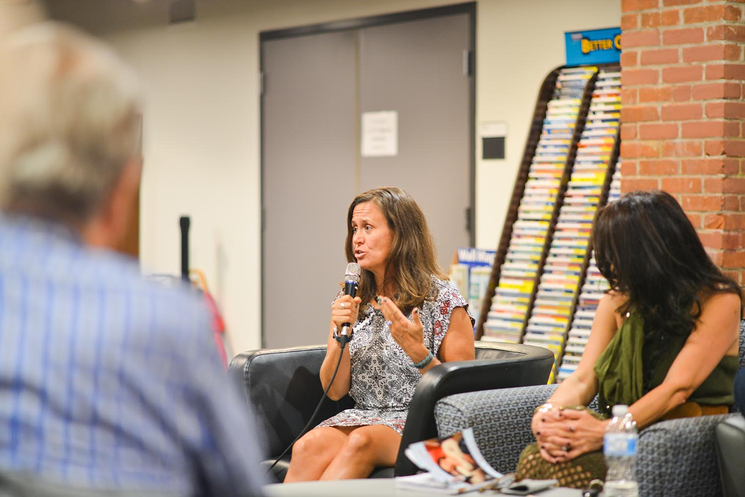 On. Sept. 16, University Chaplain Tracy Mehr-Muska spoke about her new book, Weathering the Storm, during a Local Author Program on Mind, Body, Spirit at the Wesleyan RJ Julia Bookstore.