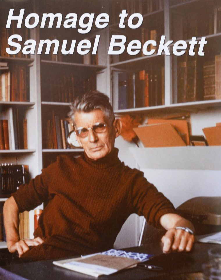 "A symposium, ""Homage to Samuel Beckett,"" highlighted letters and memorabilia gifted by noted AIDS researcher Jay Levy '60, Hon '96, and his wife, Sharon, from their decades-long friendship with the playwright, which began when Jay was living in Paris after his graduation from Wesleyan."