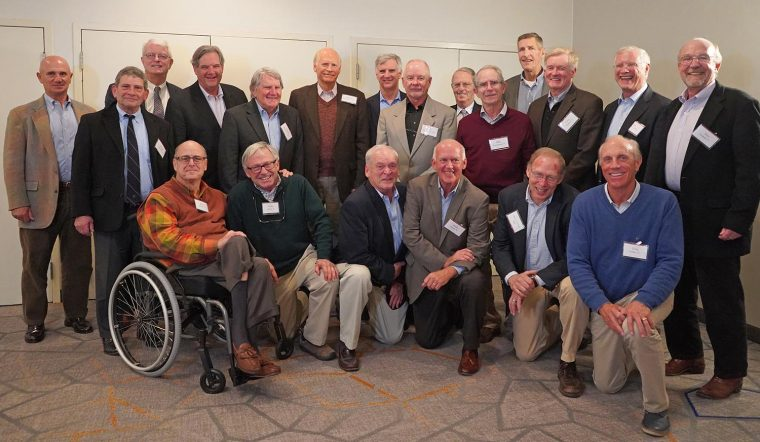 The gentlemen of 1969's undefeated football team, 50 years later.