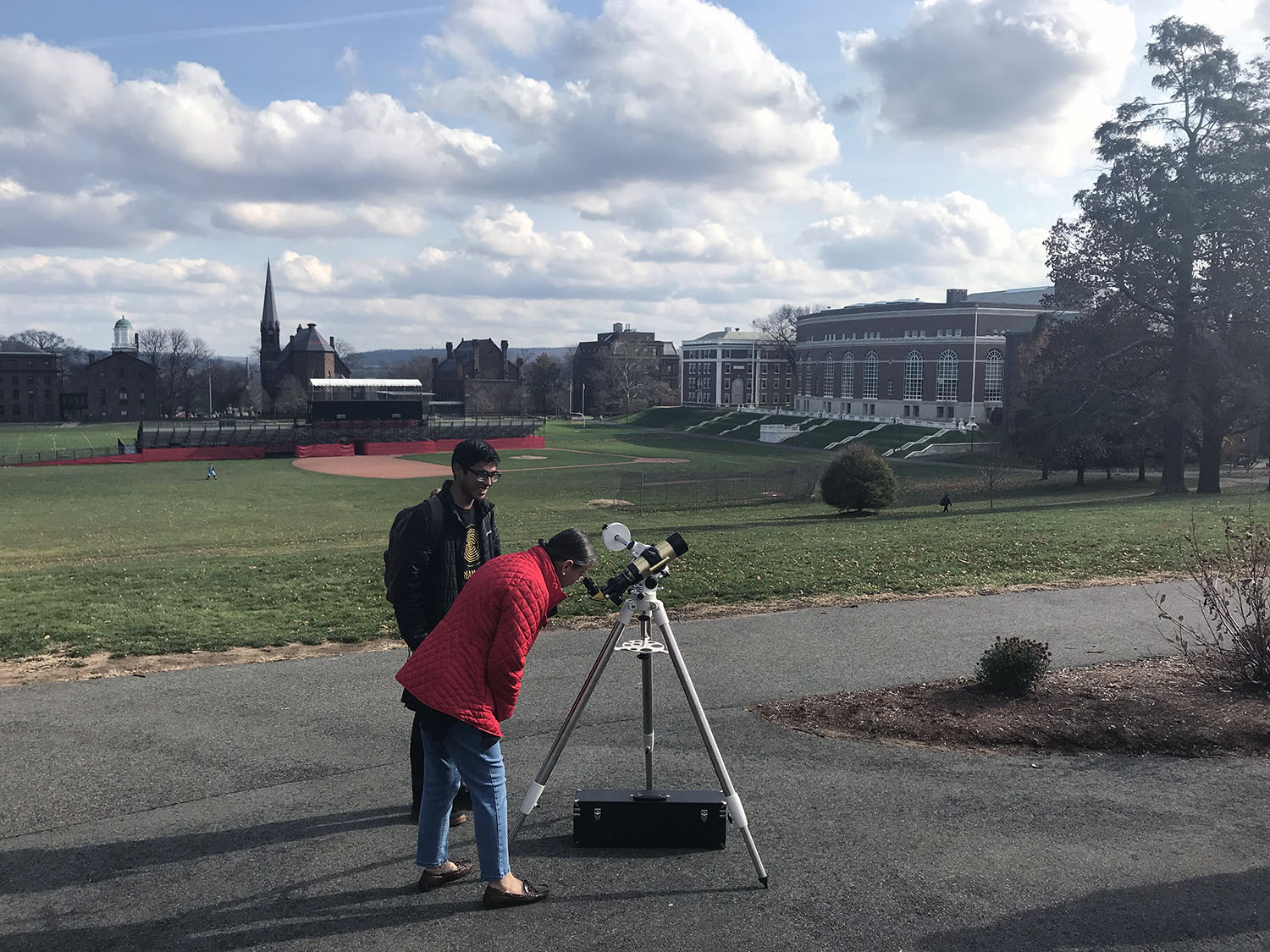 Using solar telescope