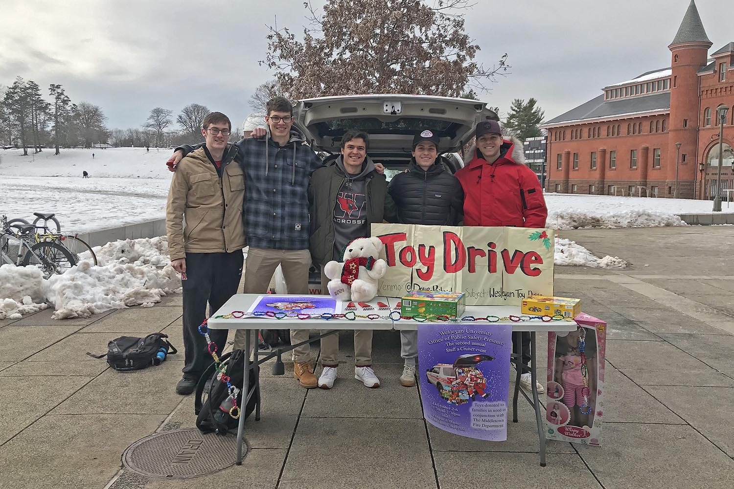 The University partnered with the Middletown Fire Department by collecting donations to benefit local children in need during the holidays and throughout the year.