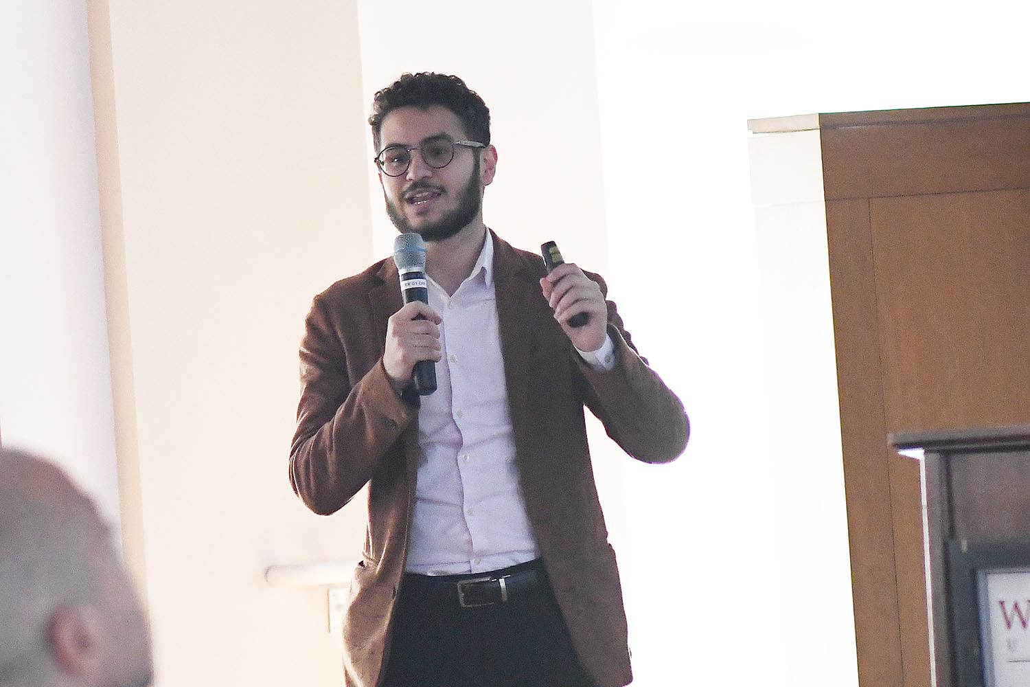 "Ahmed Badr '20, who defines himself as an ""Iraqi, Muslim refugee"" garnered support for his organization, Narratio. Narratio activates, supports, and highlights the creative expression of displaced young people through publishing, fellowships, workshops, and partnerships."