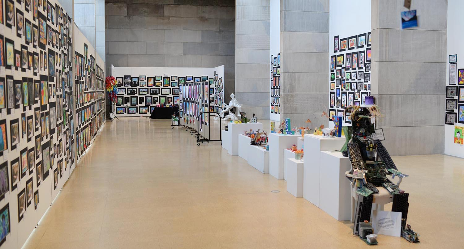 The 39th annual Middletown Public Schools Art Exhibition was on exhibit from March 7-15 at the Ezra and Cecile Zilkha Gallery. The show featured a wide variety of visual art from children in Kindergarten through 12th grade.