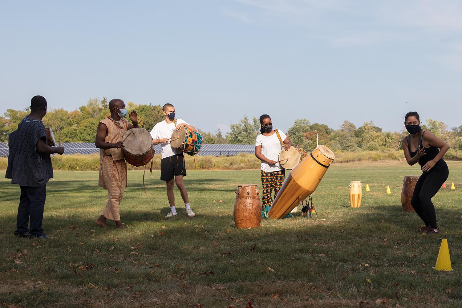 African Studies and Akwaaba Wes invited members of the Wesleyan community to a West African Music and Dance performance on Sept. 25 on the Rugby Practice Field.