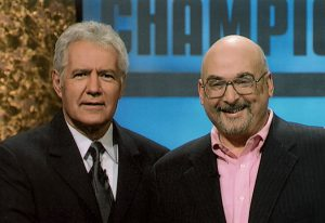 Steve Berman '72 with Alex Trebek at the Ultimate Tournament of Champions in 2005