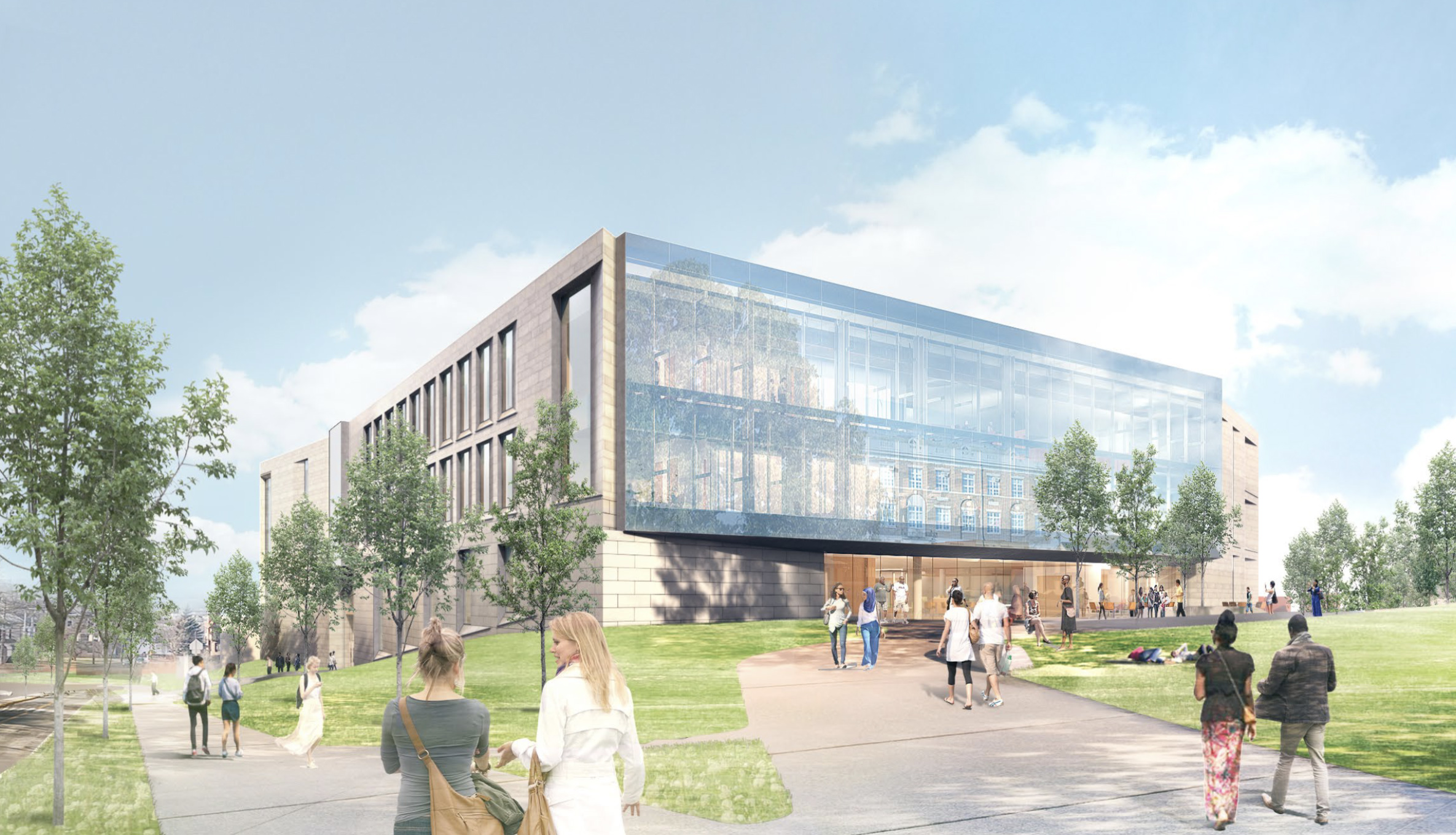 A new, 193,00 square-foot science center would replace Hall Atwater Laboratory. (Illustration courtesy of Payette Architects)