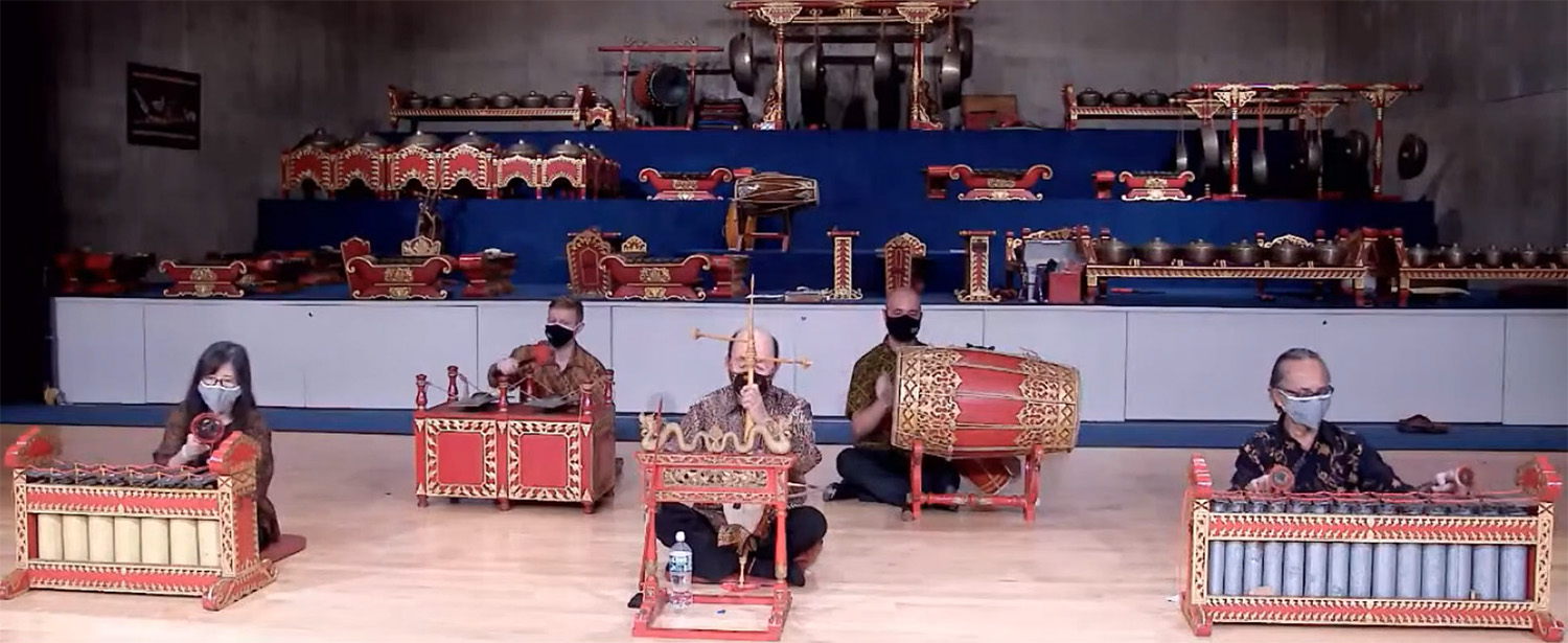On Sept. 28, the musicians presented a gadhon ensemble, featuring soft-sounding instruments (pictured). On Nov. 2, the musicians presented a gendhing soran, a loud-sounding instrumental piece in Yogyakarta style.
