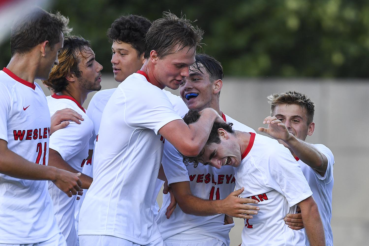 Three hundred spectators watched Wesleyan beat Emerson in men's soccer 2-0 on Sept. 7, the first game in the fall sports season.