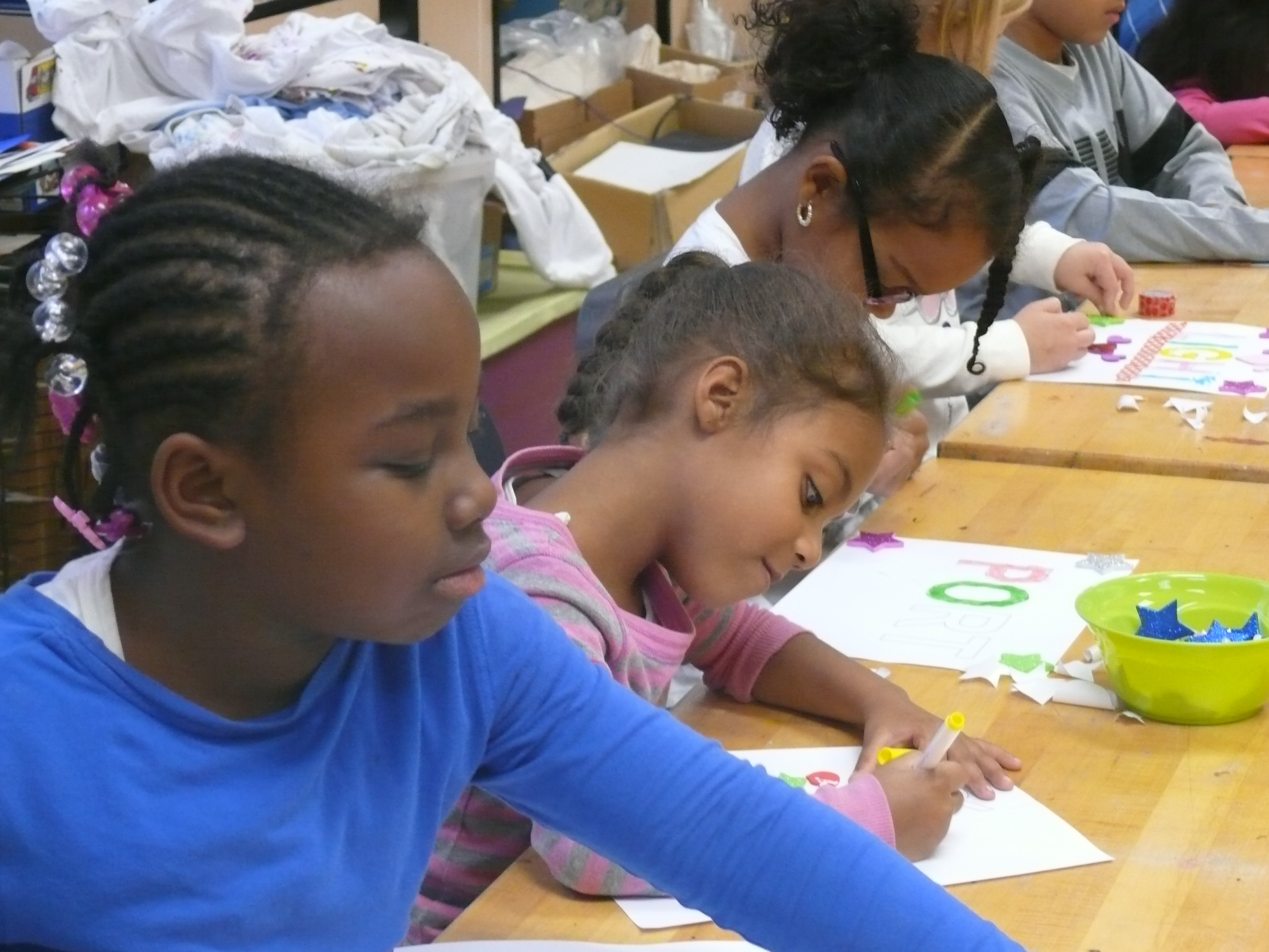 Students in the Green Street Teaching and Learning Center's after school program take classes in the arts, culture and science.