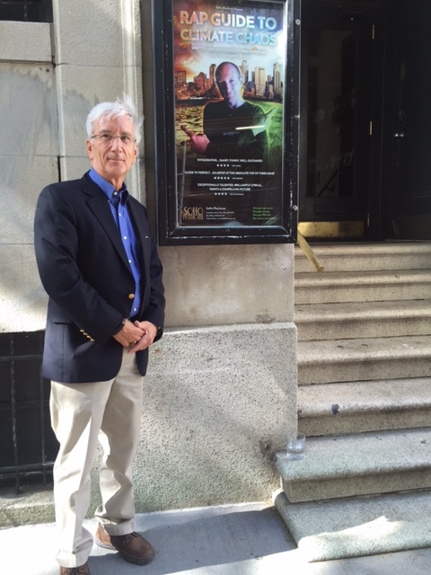 """Gary Yohe answered audience questions about climate change during the off-Broadway production, """"Rap Guide to Climate Change"""" on May 29."""