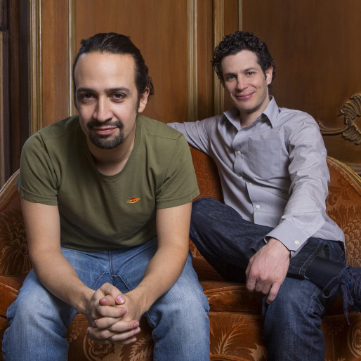 Lin-Manuel Miranda '02, Hon. '15 and Thomas Kail '99 will serve as honorary chairs of the Wesleyan University Hamilton Prize for Creativity judging committee. (Photo by Robert Adam Mayer)