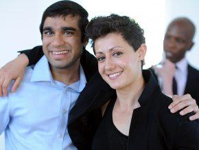 Asad Hassanali '17 and Ky Foley '17.
